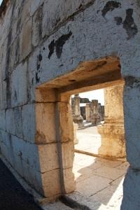 Capernum synagogue (ruins). Mark 1:21